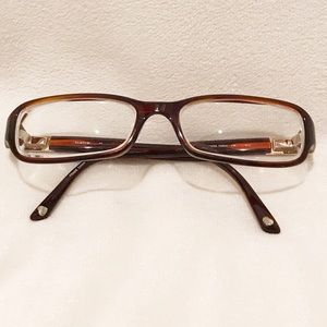 Bebe RX jeweled glasses brown rectangle stones